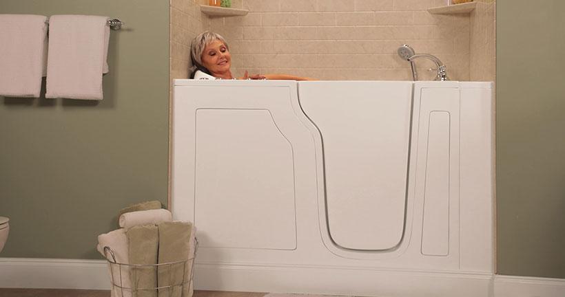 Luxurious walk-in tubs