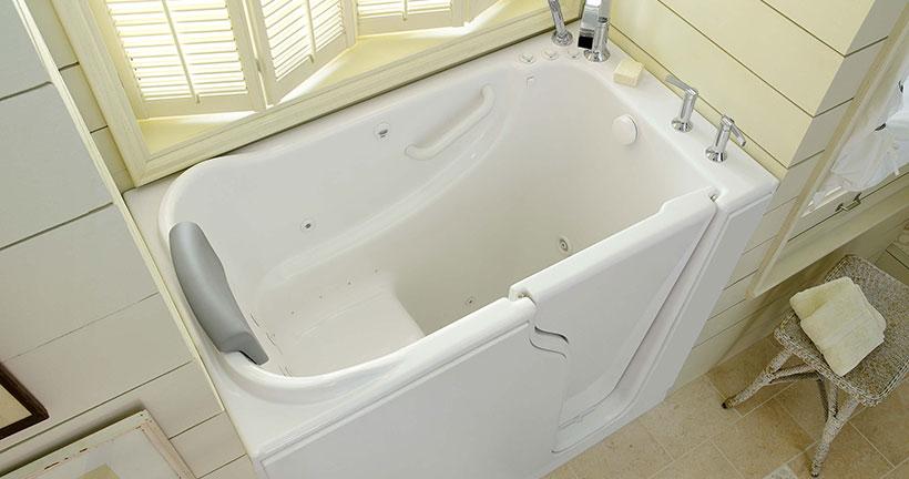 Walk-in tub installation