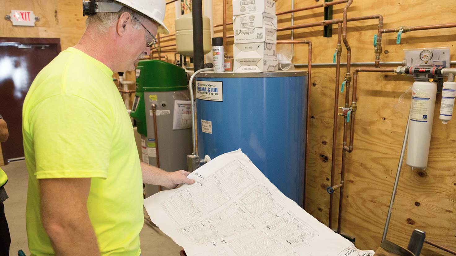 Commercial plumbing professionals